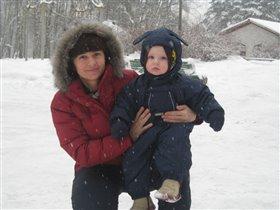 С сыном на прогулке