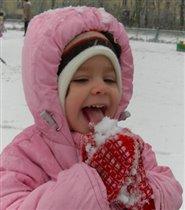Попробую на вкус снежок