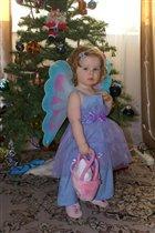 Полиночка - бабочка в Новогоднюю ночь!
