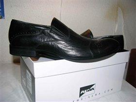 мужские туфли без шнурков, чёрные. Классика. 44p-p