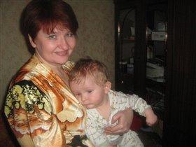 Ромочка с Любой(бабушкой)