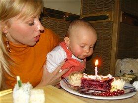 Первый день рождения моей малютки