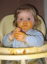 Так мы поели первый раз пюре