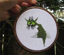 Зеленый кот :)