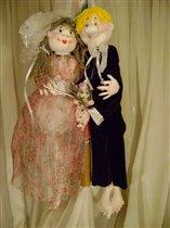 Куклы-обережки 'Свадебные'.