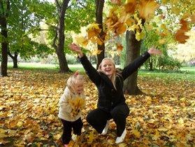 Осенний листопад в московском Ботаническом саду