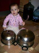 Самодельная барабанная установка=)