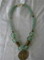 Powder Glass&Brass Beads