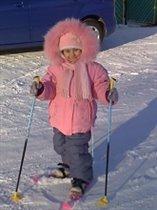 Первые шаги на лыжах..