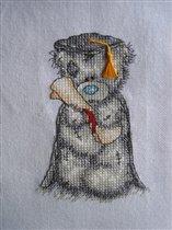Второй мишка к дочкиному будущему выпускному.