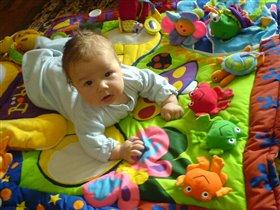 вот мой игрушки на большом коврюшке