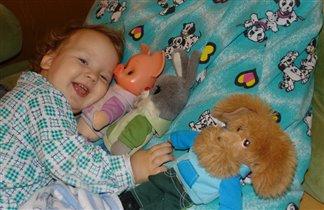 Ёжик и любимые игрушки-зверюшки