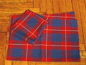 Ткань шотландка.