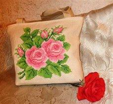 105_сумка с вышитыми розами