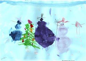 На конкурс Школа снеговиков