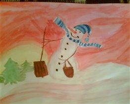 Конкурс 'Школа снеговиков' Снеговик  Меланхолкин'