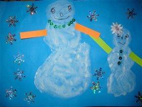 мама Снеговица и её малышка Снежана