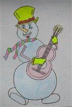 снеговик марковкин. творение виталика 11 лет