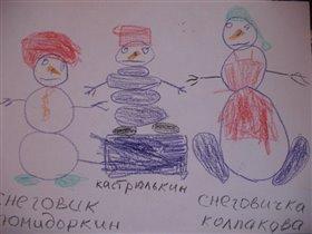 Рисукем снеговиков