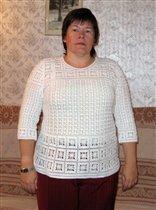 Пуловер белый