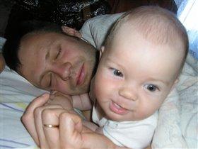 Проснулись в папин День Рождения