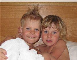 Два сыночка - грибочка.