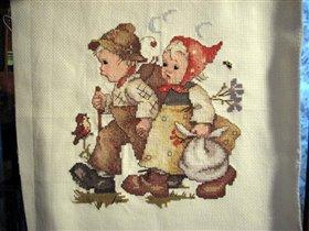 Ганс и Грета. Вышивала всё лето.