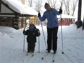 Мы с мамой лыжники