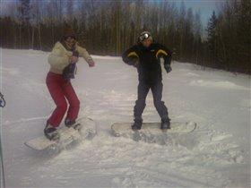 Вы думаете это иноплонетяне? Нет! Это мы покоряем снежные просторы Урала!