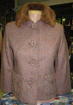 Куртка-пальто с короткими рукавами,  в стиле Жаклин Кеннеди
