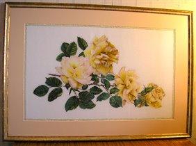 'Желтые розы' , набор Thea Gouverner №429
