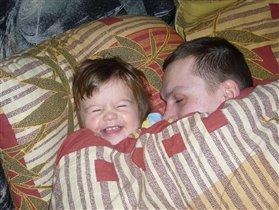 Папа и доча,похожи ну очень!