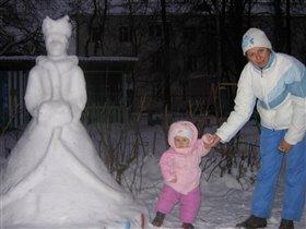 Ты скульптура нежная - хоть и королева снежная
