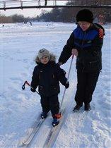 Первый раз на лыжню