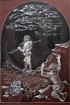Книжная иллюстрация. 'Запечатленный ангел', Лесков.