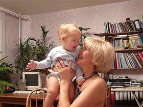 Лена и внук - Тимяйка!