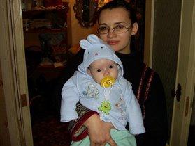 Я и моя любимая зайка (доченька Ангелина)