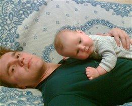 как приятно с папой полежать