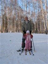 буду лыжником как папа!