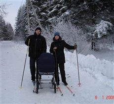 Подумаешь, без лыж коляска...