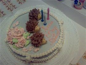 Наш тортик на 3 годика