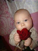 Первая роза для мамы!