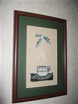 Серия 'Иллюзии в чашках кофе' - Пальма