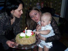 Моей дочке Евочке 1 год!
