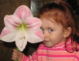 Спрячусь за цветком