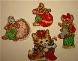 Мышки и котик от Дим