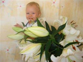 Цветочек в  букете