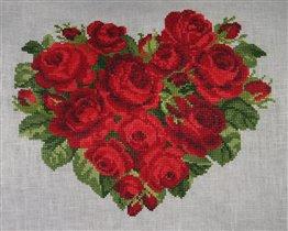 Сердце из роз EMS