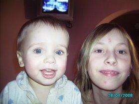 Мои дети: Наташа и Саша
