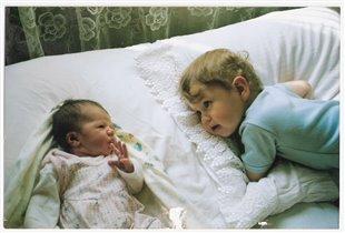 Анечка(5 дней) и Данечка(2 года)